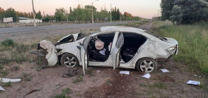#Región | Grave vuelco en 25 de Mayo: Una mujer fue despedida del auto y la trasladaron urgente al nosocomio de la localidad