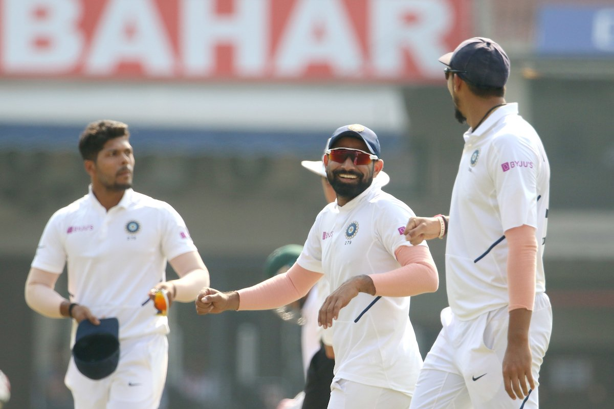 There it is the 8th wicket for #TeamIndia. Shami has his 4th and we are two wickets away from victory 💪💪#INDvBAN
