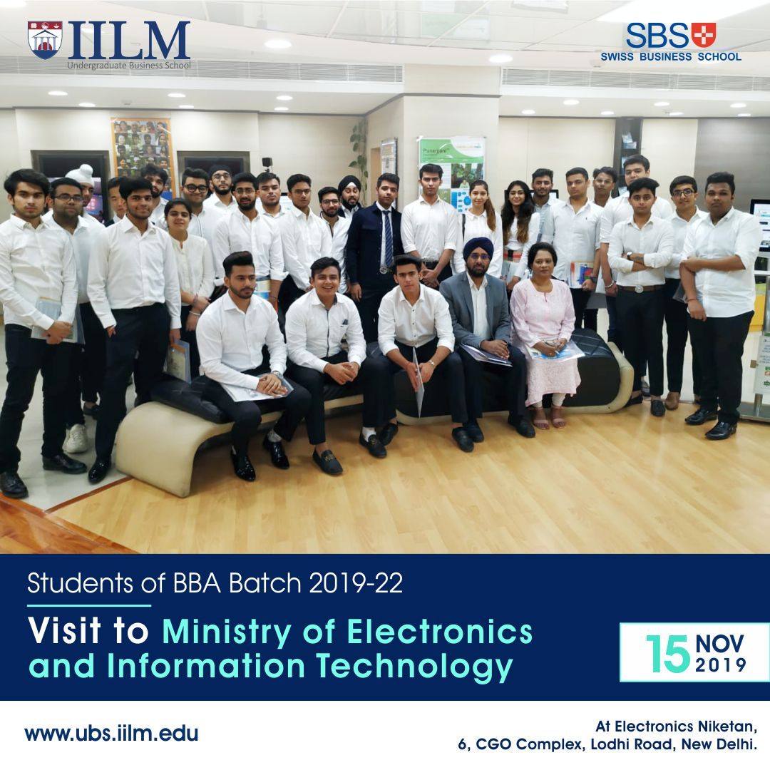 #Students of #UG Stage 1 visited the Ministry of Electronics and Information Technology (MeitY) on November 15, 2019 where they learnt about the best practices in E-Governance .  #MyIILM #BestBSchool #IILMUBS #IILM #CompanyVisit #Business #managementpic.twitter.com/u7TsnhU3tR