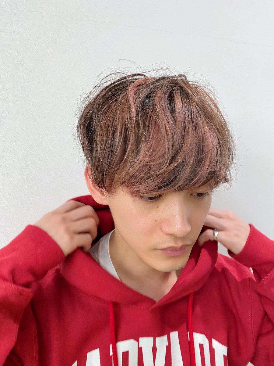 髪の毛ピンクになったよ