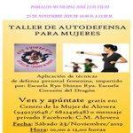 Image for the Tweet beginning: Taller de Autodefensa para mujeres
