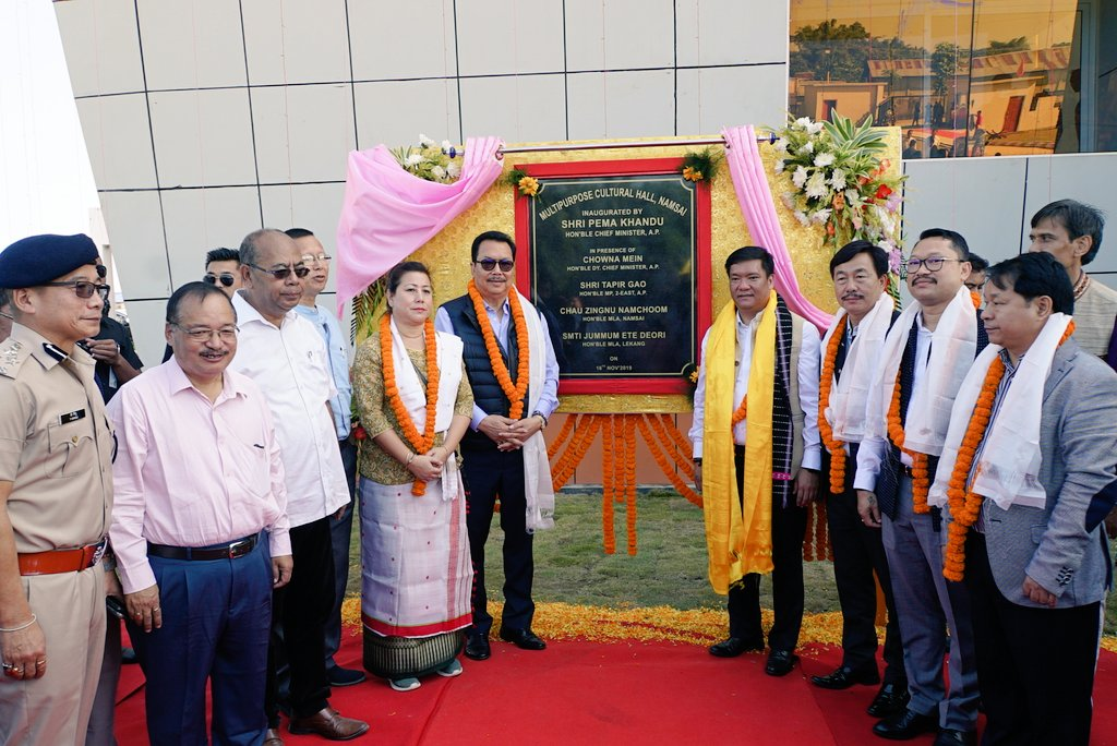 Thank you Hon'ble CM @PemaKhanduBJP, for inaugurating the state-of-art, Multipurpose Cultural Hall at my hometown, Namsai today. Under your able leadership, the state has witnessed accelerated development, transparency & unprecedented transformation in all sectors of governance.