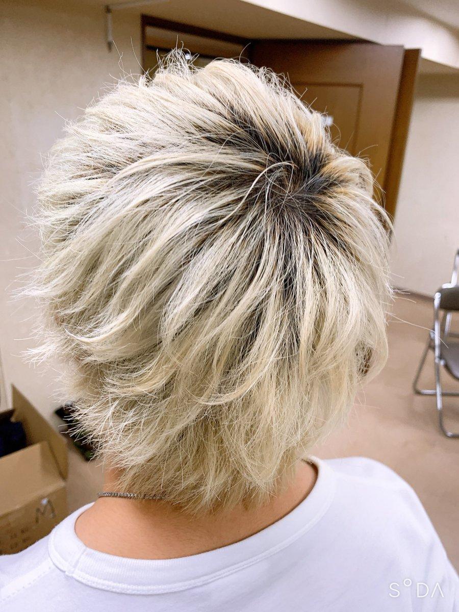 後ろ姿がまじでカッコよく仕上げれたので後ろ髪載せさせてください。菅田将暉の鬼ちゃん意識✌️