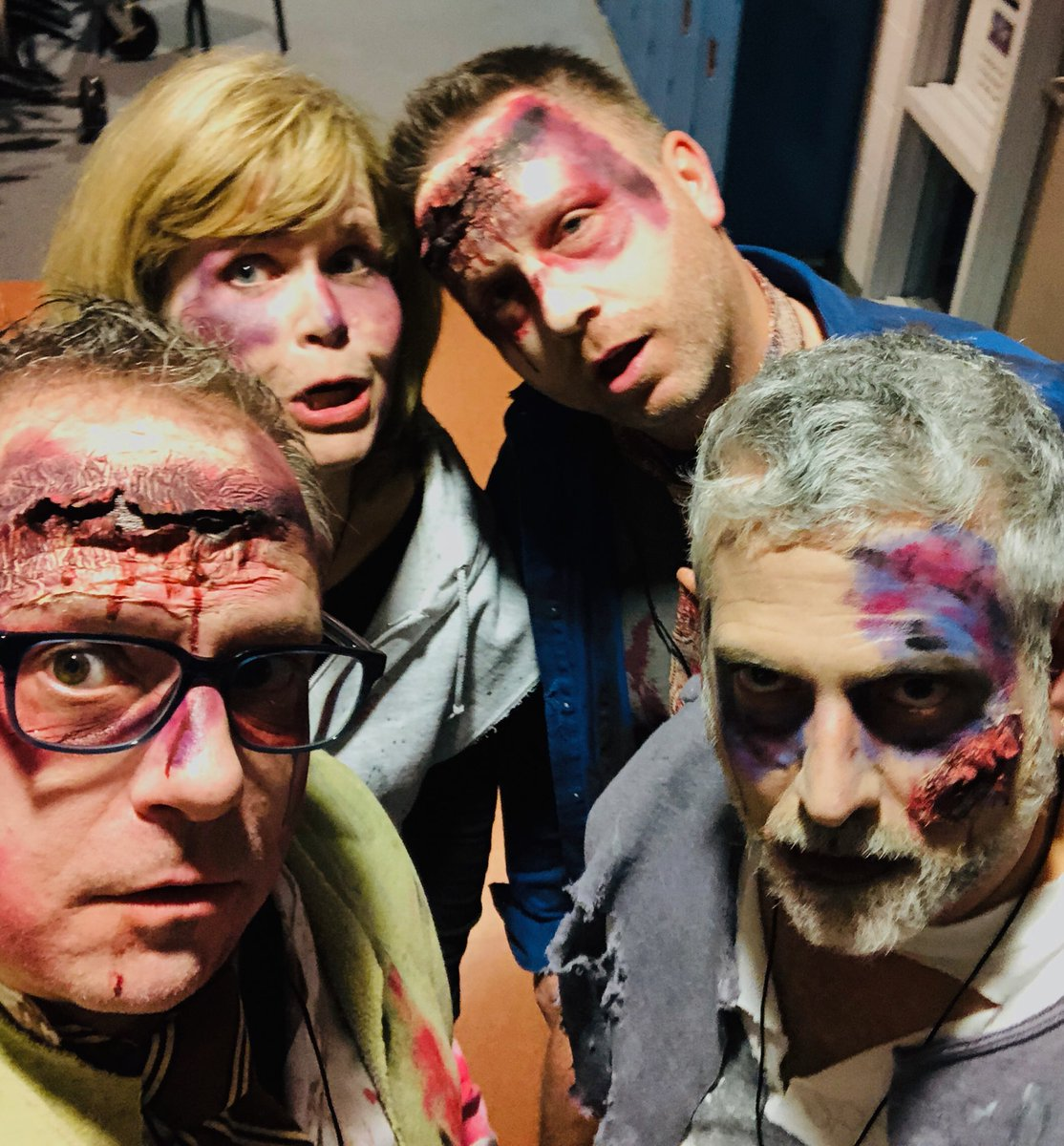 YORKTOWN PRINCIPAL TURNS INTO A ZOMBIE FOR THE YORKTOWN PRODUCTION OF