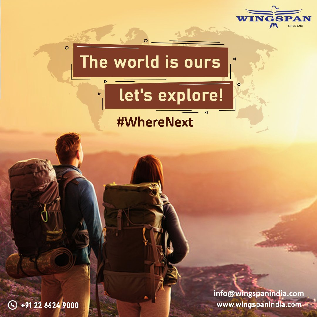 "Is ""where to go next"" the question which creates confusion before every trip?Contact #WingspanHolidays to get the best ever options to go for your next vacations.#travel #vacation #lifetimeexperience #timetoexploretheworld"