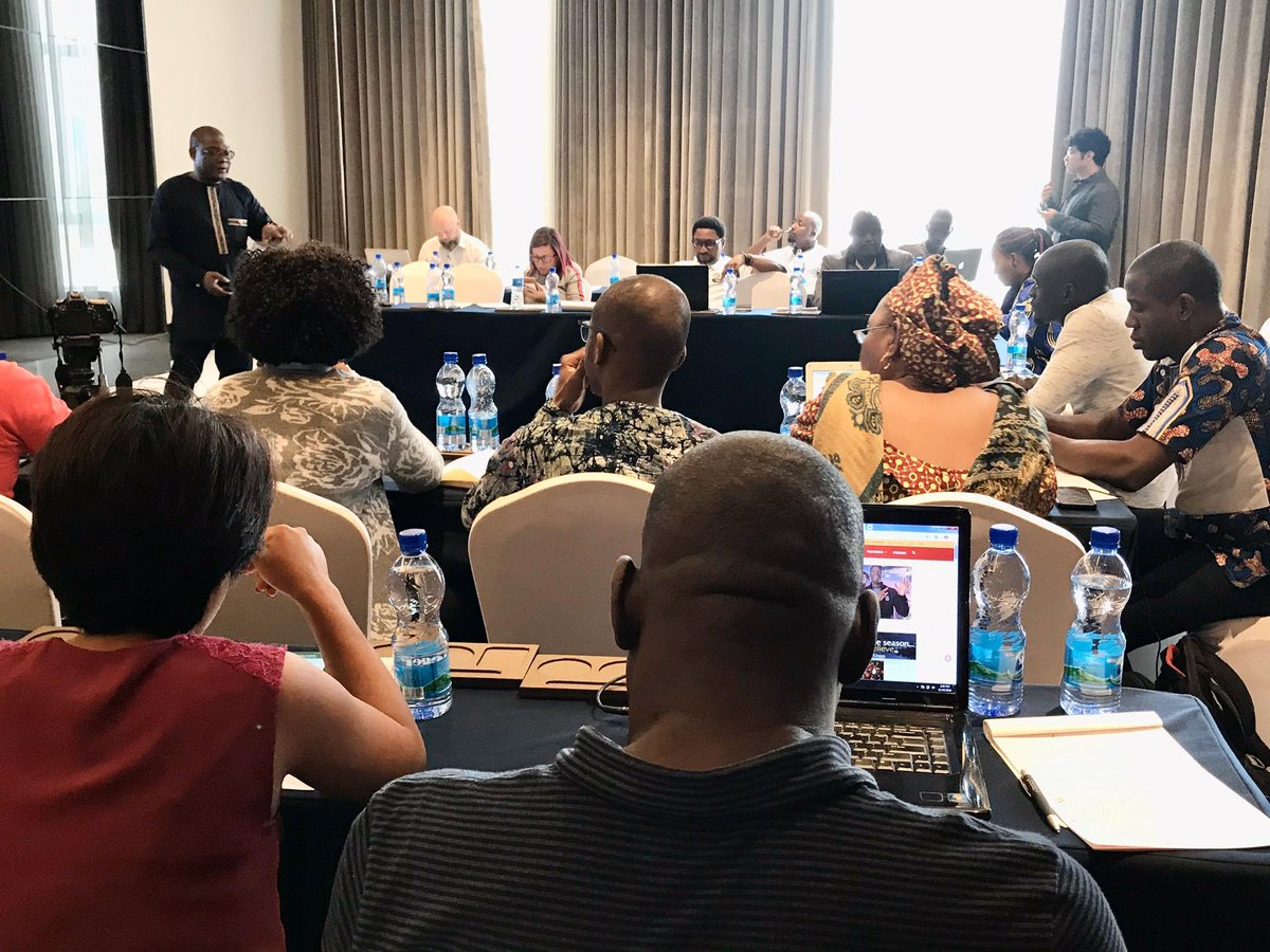 ITCNews Happening now: training of African journalists on global trade. ChizemaRongai of _AfricanUnion briefs on industrialization and the #AfCFTA. Programme organized ahead of #WEDF19 by ITC, African Union, Trade_EU and EIF4LDCs.