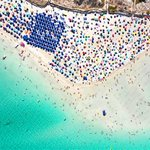 Image for the Tweet beginning: Accessing this popular Italian beach