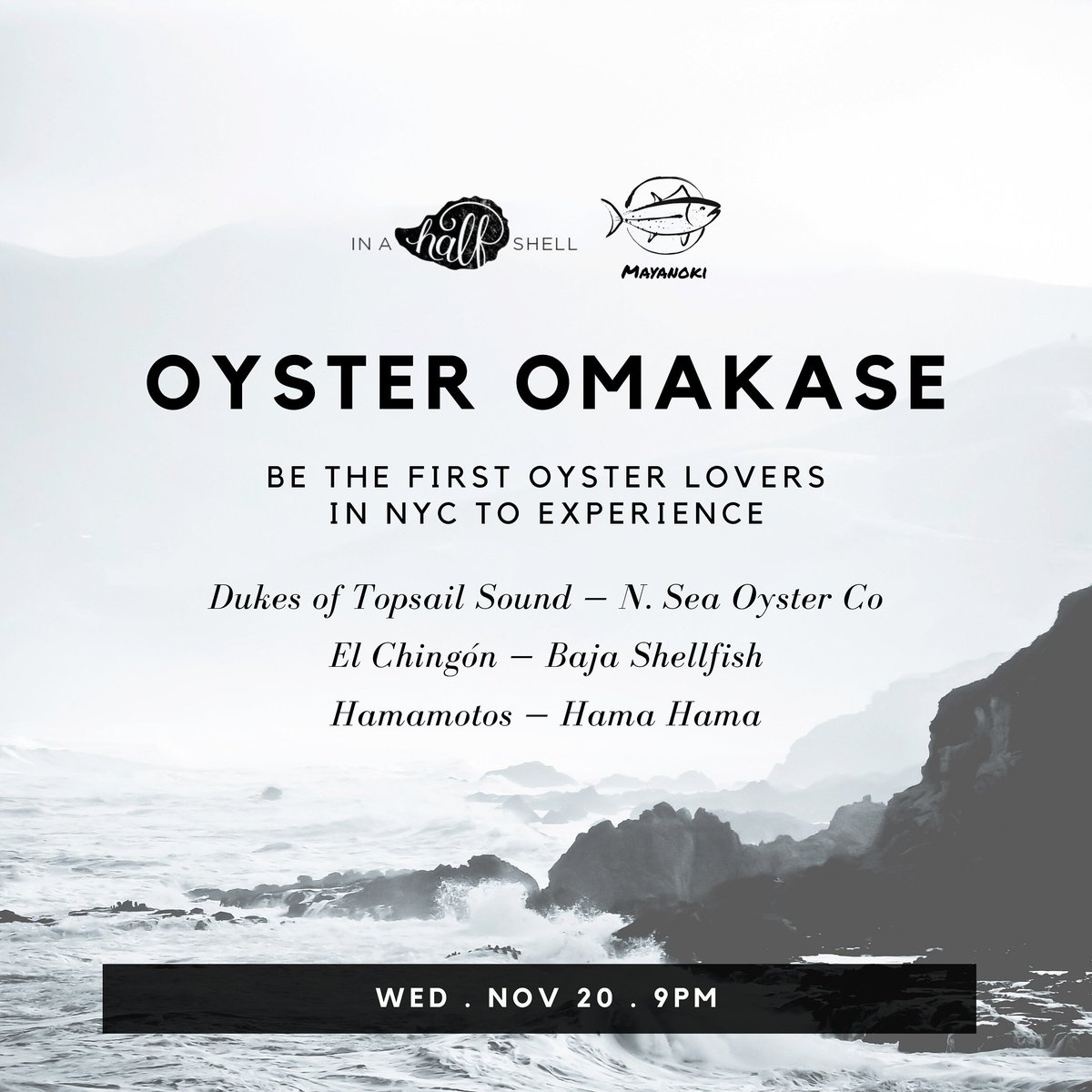 If I weren't co-hosting this event with @mayanoki I would totally be booking tickets asap. 🤣 This is a true oyster lover's kind of event!! Only 8 seats available. DM me for details.
