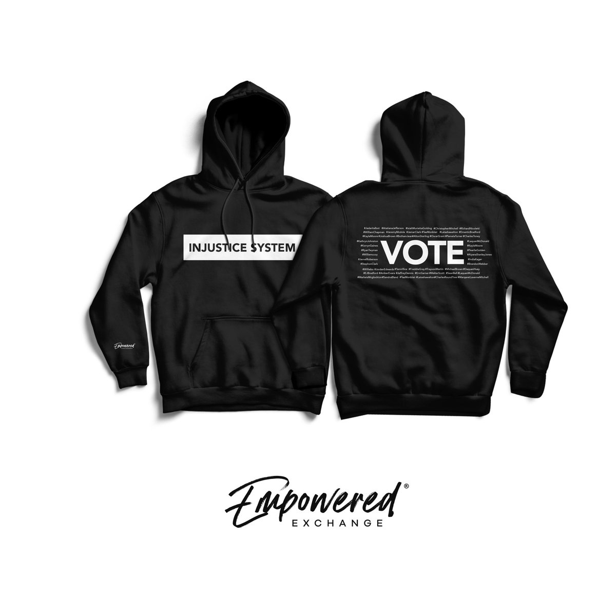 @DeGeraldWB & I Created Pieces to Bring Awareness & Make a Change. The Following Names Were Killed By Police, Mysteriously Killed While Being Protected by Police or Was in Police Custody. Link In Bio To Purchase Gear & Join The Movement #ItsOnUs #SayTheirNames #BeEmpowered