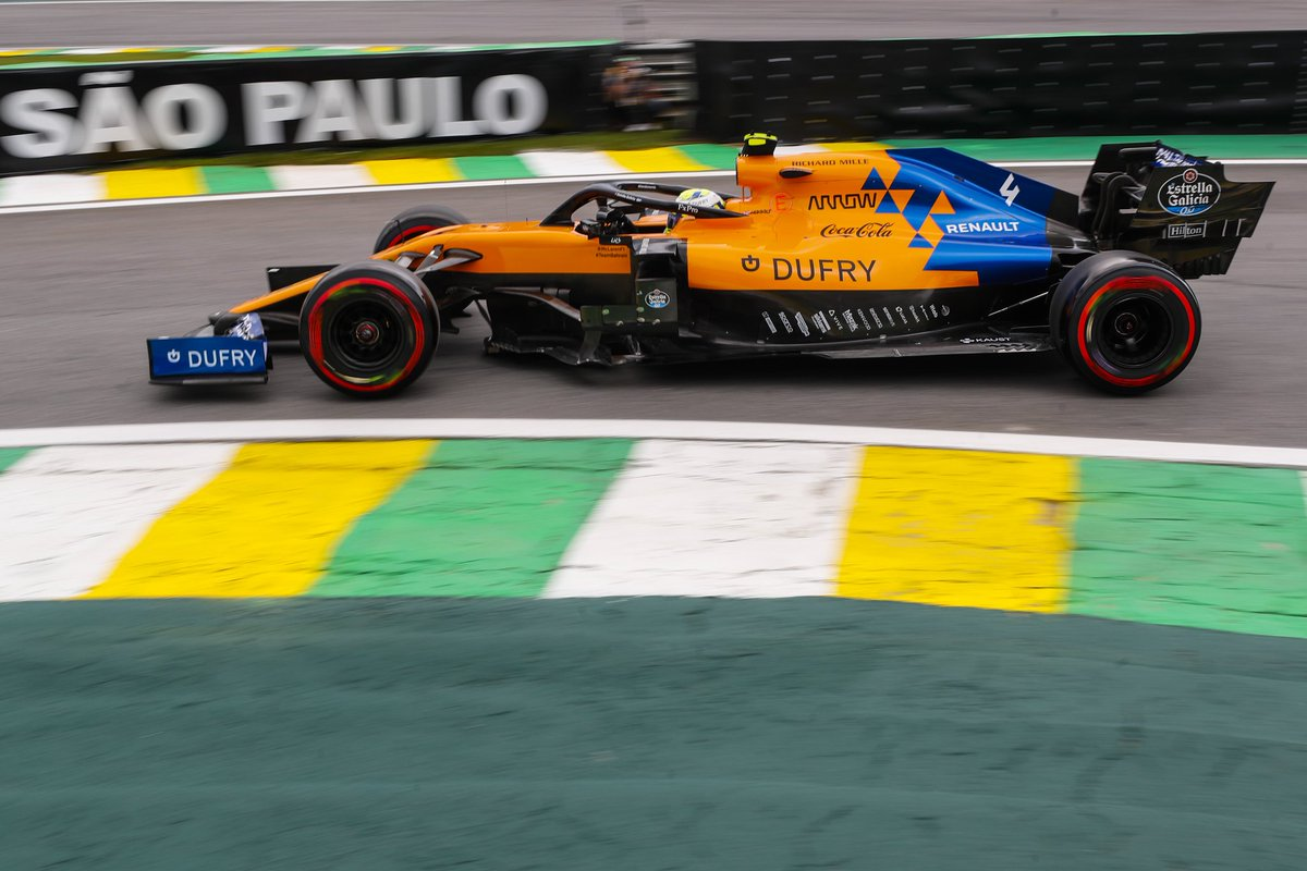 Four minutes remain in Q2. Lando sits P11.  Keep fighting, Lando! 💪 #BrazilGP https://t.co/AQsWxy2kSi
