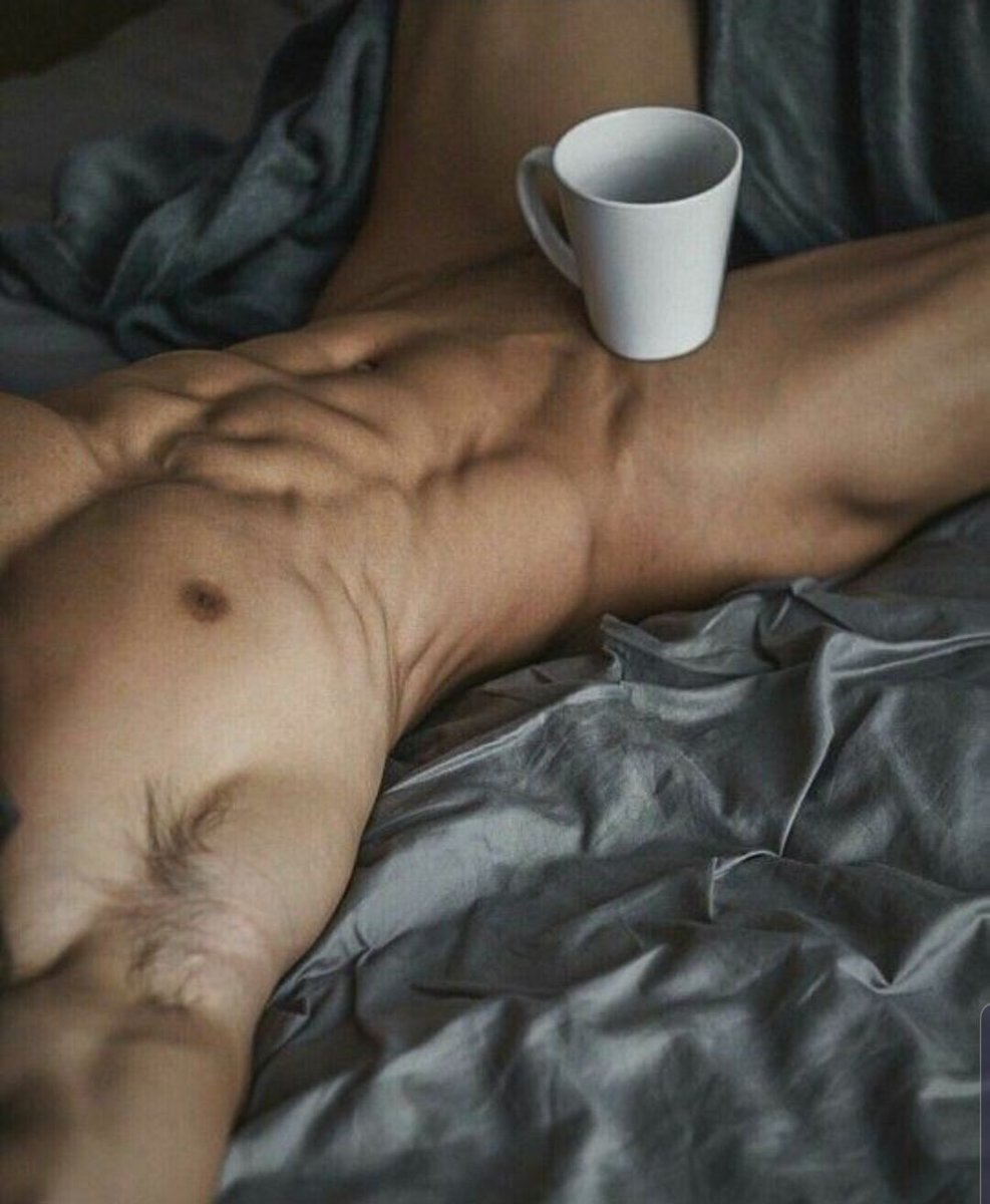nude-man-and-coffee-gay-latino-male-trucker