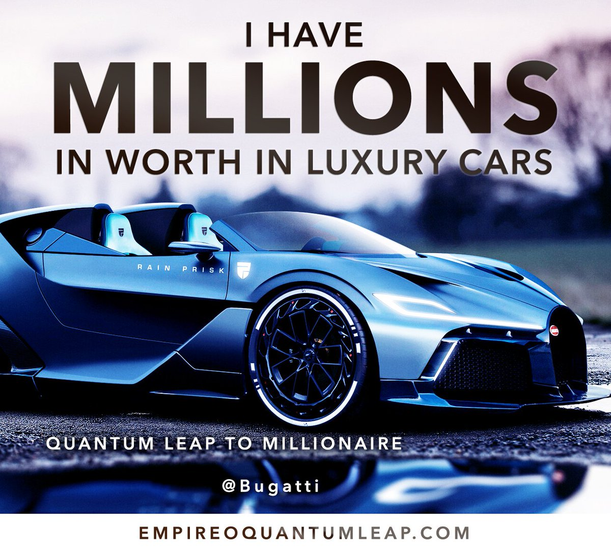 """I have MILLIONS in worth in LUXURY cars. 🏎️ 📶🔝💰🏙️  """"QUANTUM LEAP TO MILLIONAIRE""""💰💎 ▶️ I want to know more about the program https://t.co/zfXarp0sbB https://t.co/FwV88KJOVP"""