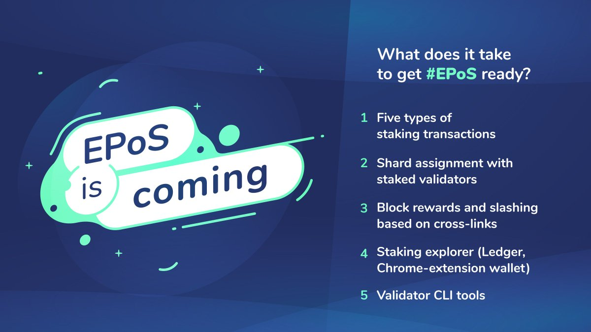 Upon its announcement, Effective Proof-of-Stake has been among the most-discussed PoS yellow papers, with many thought leaders reviewing our solution to blockchain's quadrilemma!  Upon #EPoS launch, our CTO @RongjianLan summarizes what it takes to release.  #EPoS is coming!<br>http://pic.twitter.com/76uqmPWOKI