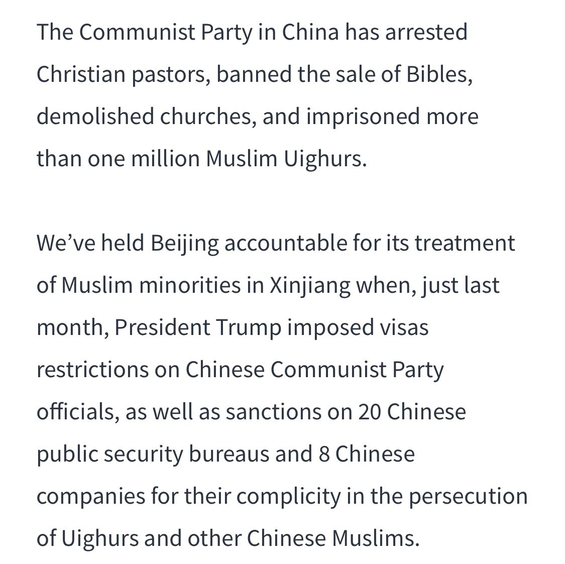 .@VP spoke out about this oppression in his October 24 speech on China: twitter.com/austinramzy/st…