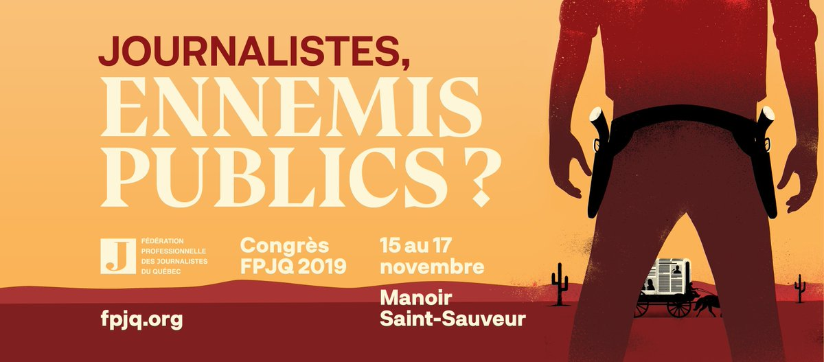 I'm at la Fédération professionnelle des journalistes du Québec #fpjq