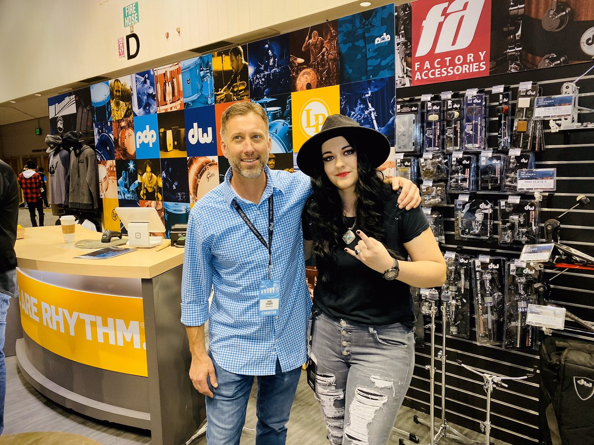 Our Dir. of Sponsorship & Corporate Relations, @michelleEgraves dropping by the @dwdrums booth at @PASIC to chat with Chad Stewart.  Thanks Chad for your support, the chat, &being a rockstar #sponsor at #Drummathon2019 #PASIC19 #NeverNotWorking #Drums #Thankful 📸 by: @fotogrldg