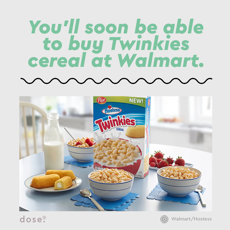 Post has been releasing a Hostess-themed cereal collection, and Twinkies cereal is the latest addition. In a press release, the cereal is described as providing 'that cream flavor we all crave.' The cereal will be available starting in late December.