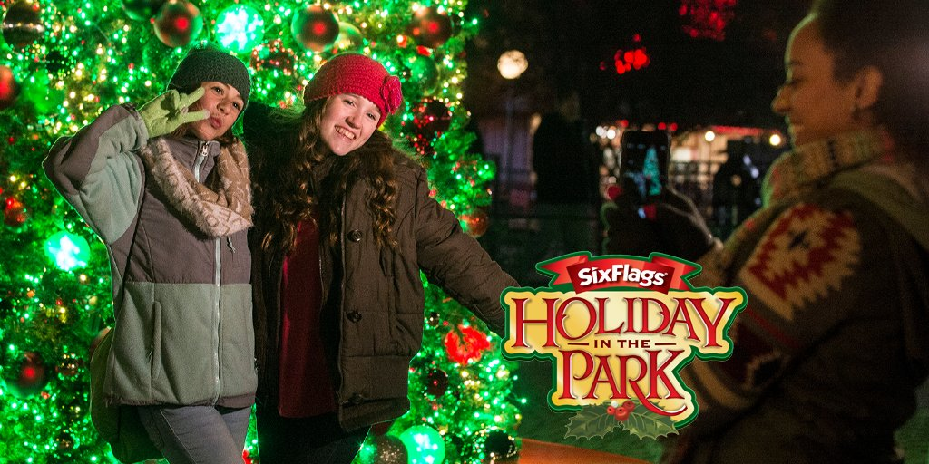 Celebrate the holidays @SixFlags  ! Use your #AAADiscounts to save up to 40% on tickets when purchased online - plus 10% off all gifts, candy and photo products.