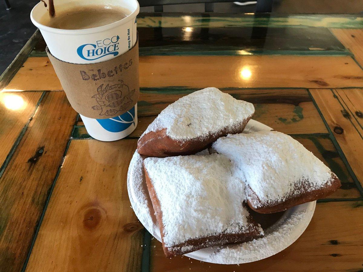 I needed a coffee so........😆 Delicious! 👍🏼👍🏼 (@ Bebettes Beignets &Coffee in Asheville, NC) swarmapp.com/c/4TyrXAaJ9BE