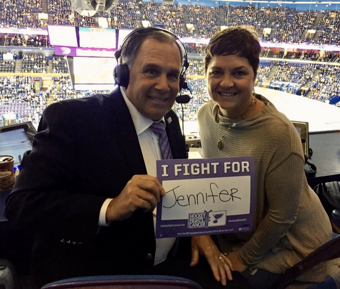 @NHL We fight for Jennifer Kelly and all those affected by cancer 💜 #HockeyFightsCancer