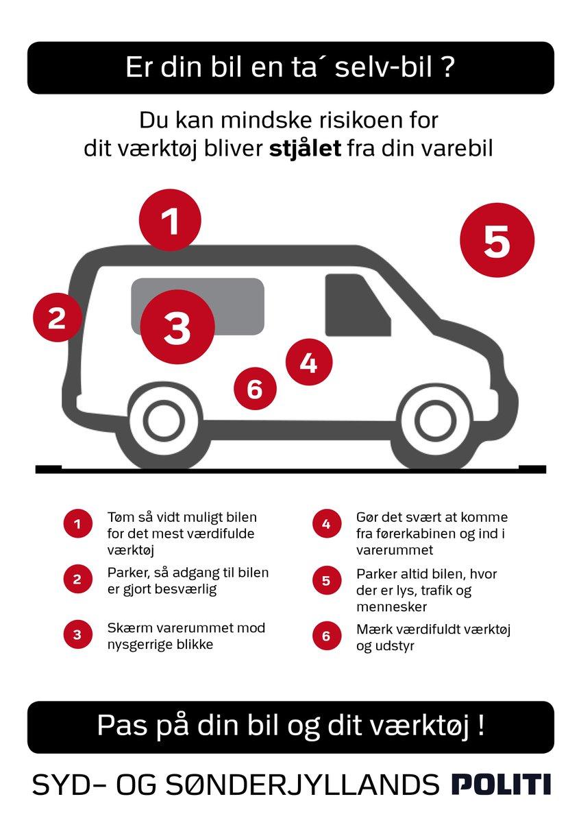 Gør ikke din varebil til en ta-selv-bil! https://t.co/JSZivLWIte #stopehæleri #politidk https://t.co/JLLjiAsccp