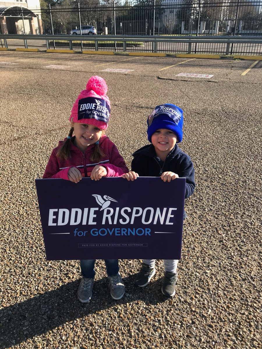 #TeamEddie is working hard to get out the vote! Lets go win this thing and make Louisiana the #1 state in the South. #LAgov