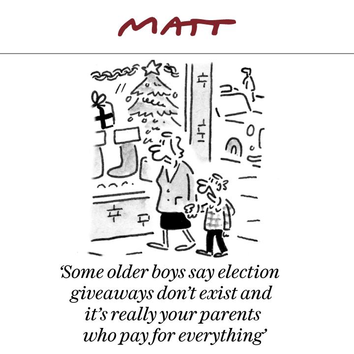 My cartoon for tomorrow's Sunday @Telegraph #GE2019