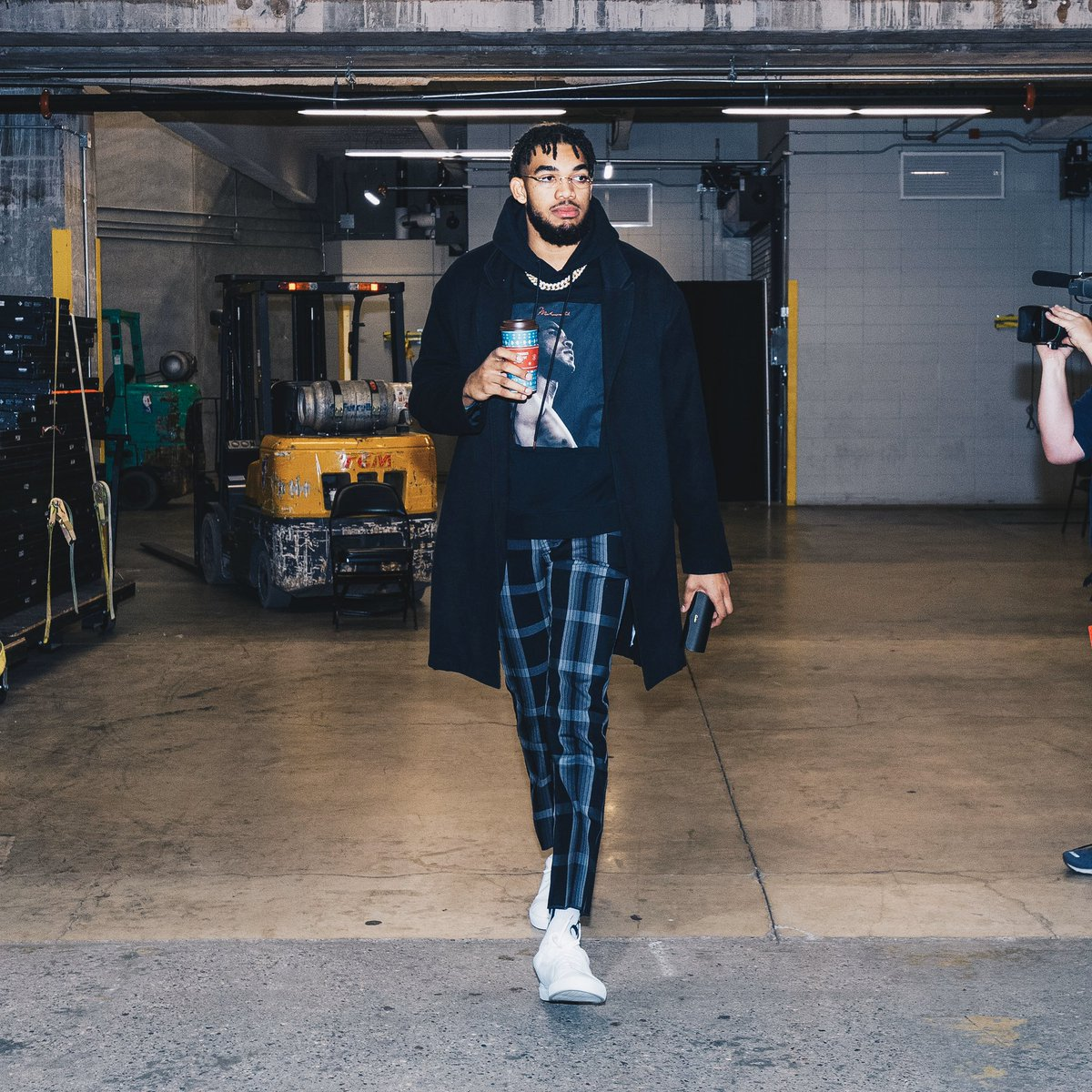 Caribou fueling @KarlTowns tonight for the big game! Good luck to our Minnesota @Timberwolves 🙌🏀 #FuelUp