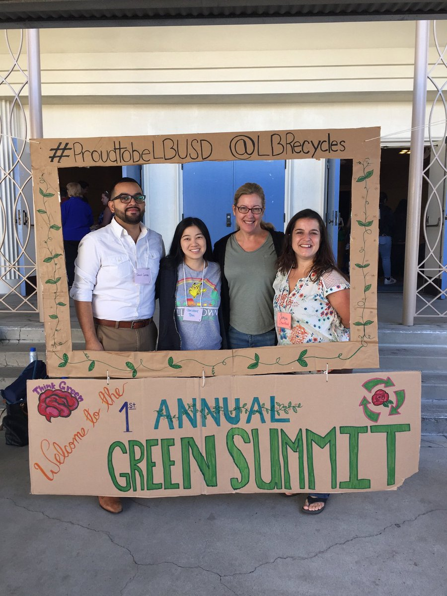 Stanford goes green at the annual summit!  #proudtobeLBUSD Correa, Thai, Mulvehill, and Florez!