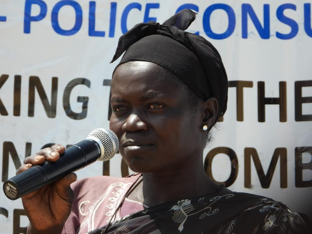 Today #UNPOL in #UNMISS supported host police #SSNPS launched it's Community Policing in Mouana, Juba to form their Crime Prevention Committee (PCRC).  Also thanks to #JICA #UNDP #UWO.  Well attended including women and youth.  #A4P #EndSGBV #ProtectCivilians #Peacekeepers