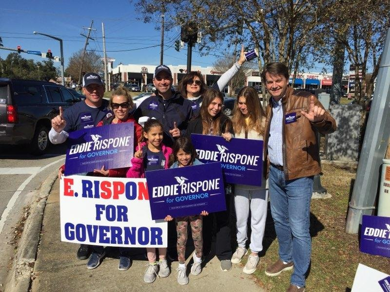 I am so grateful to my wonderful family for all of their support throughout this campaign and helping us get out the vote today. Polls are open until 8:00 - Geaux #VoteRispone!