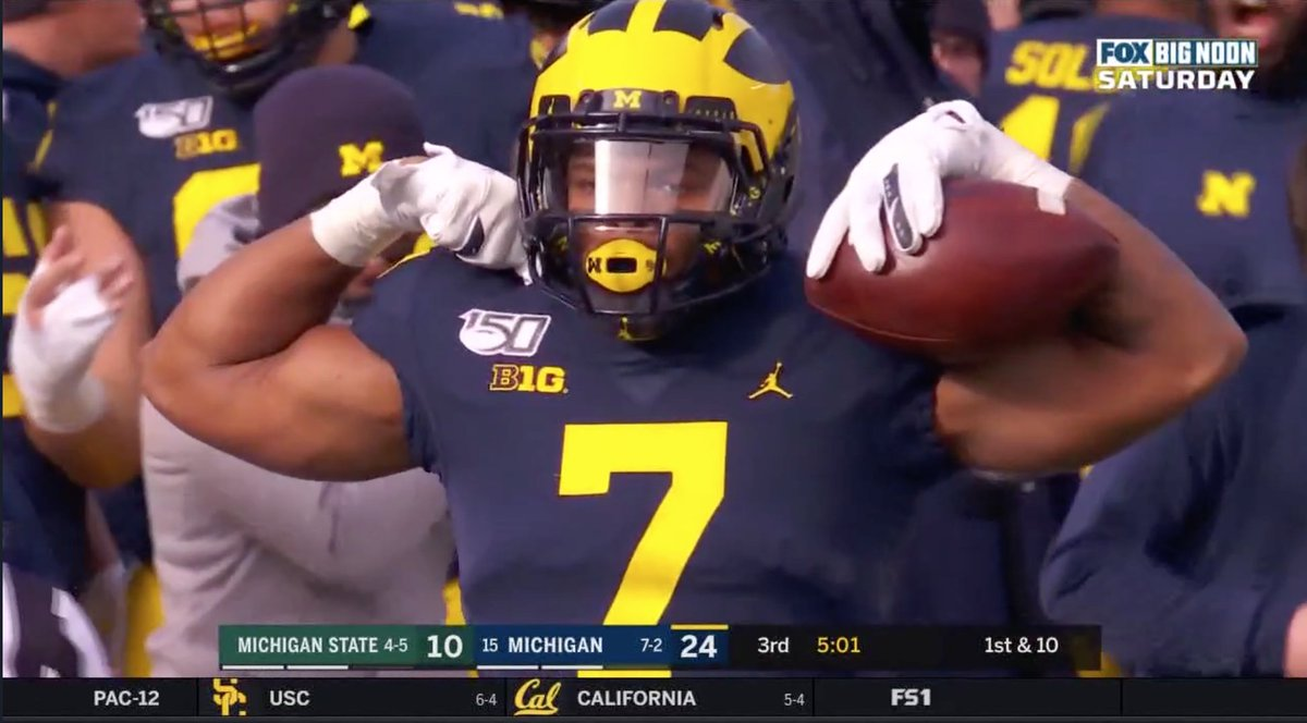 Michigan football Jim Harbaugh Tarik Black MSU Spartans penalty