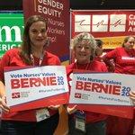Image for the Tweet beginning: teachers + nurses ❤️ Bernie  @UTLAnow's