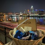 Image for the Tweet beginning: And our basket from @flyneworleans,