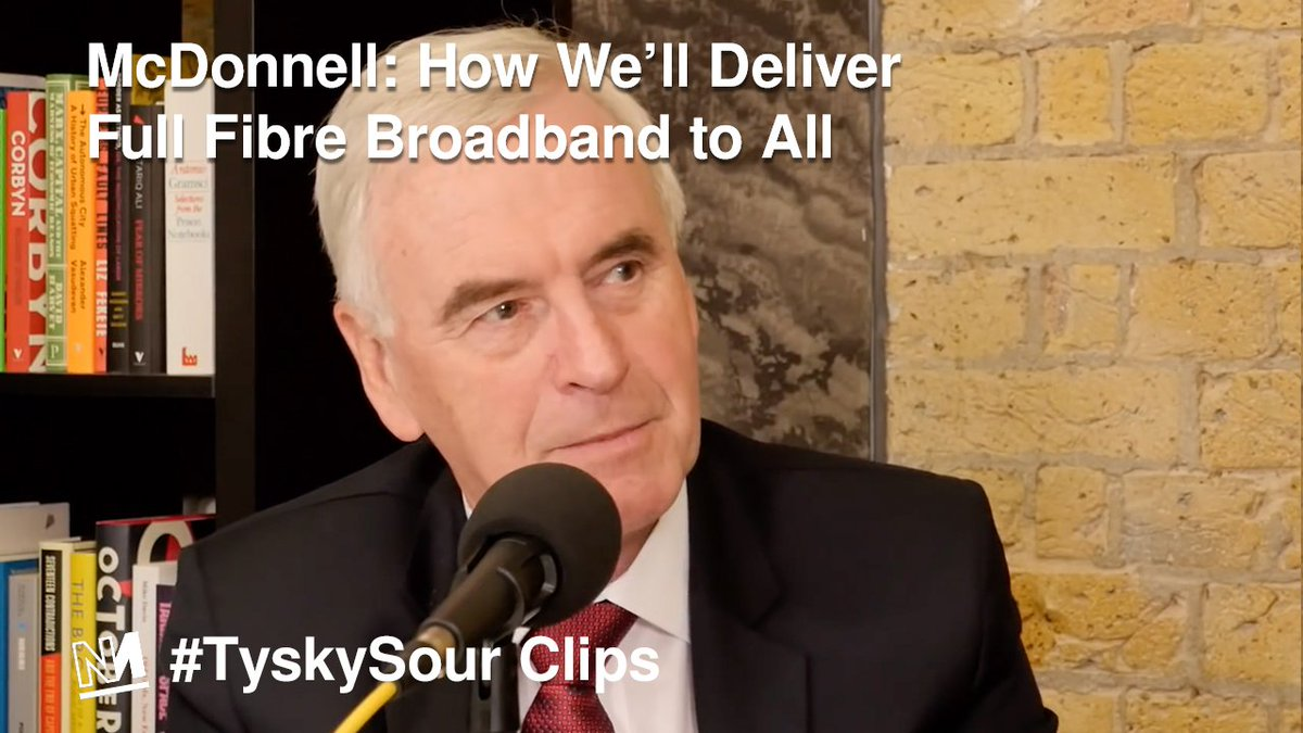 Q: How did @JohnMcDonnellMP know that free full fibre broadband would be so popular? A: He listened to people.