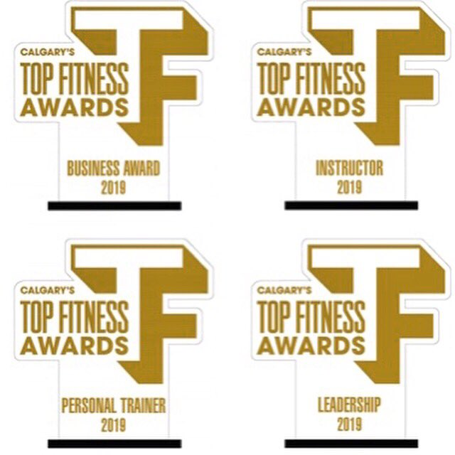 Here's a little sneak peek of the trophies will be awarding December 6, 2019 at @canyonmeadows ! If you work in the fitness industry don't miss out on this recognition celebration and networking opportunity!  Tickets are on sale now!  Link in bio! #yyc  #fitness