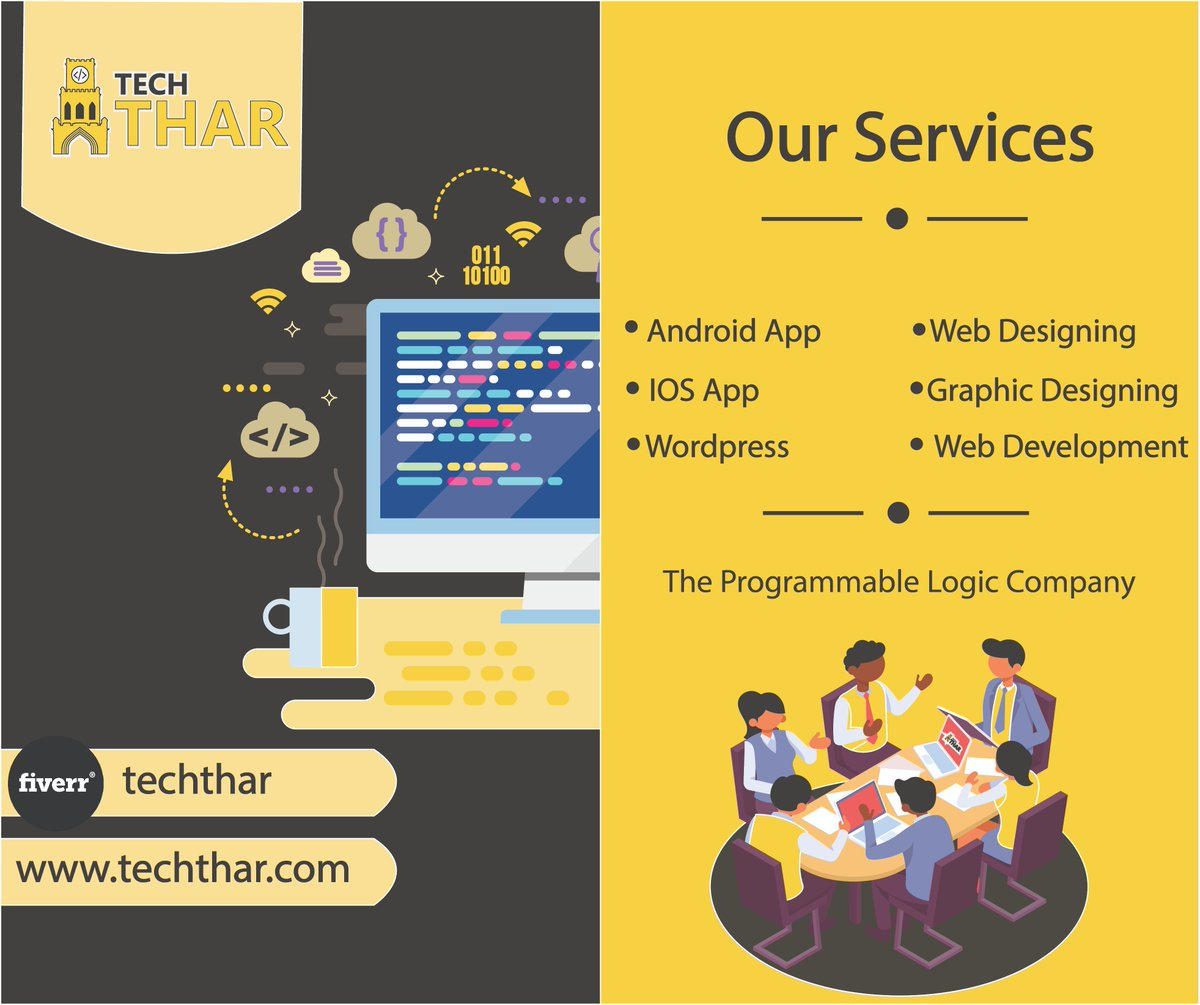 Tech Thar:- It is the place where you can get all the things you need for your Business, Company, organization etc under one Platform.  Tech Thar - The Programmable Logic Company #TechThar  #WebDesigning #WebDevelopement #AppDevelopemnt   #AppDesigning #GraphicDesigning #Wordpess<br>http://pic.twitter.com/TjZ3EB4Ujh