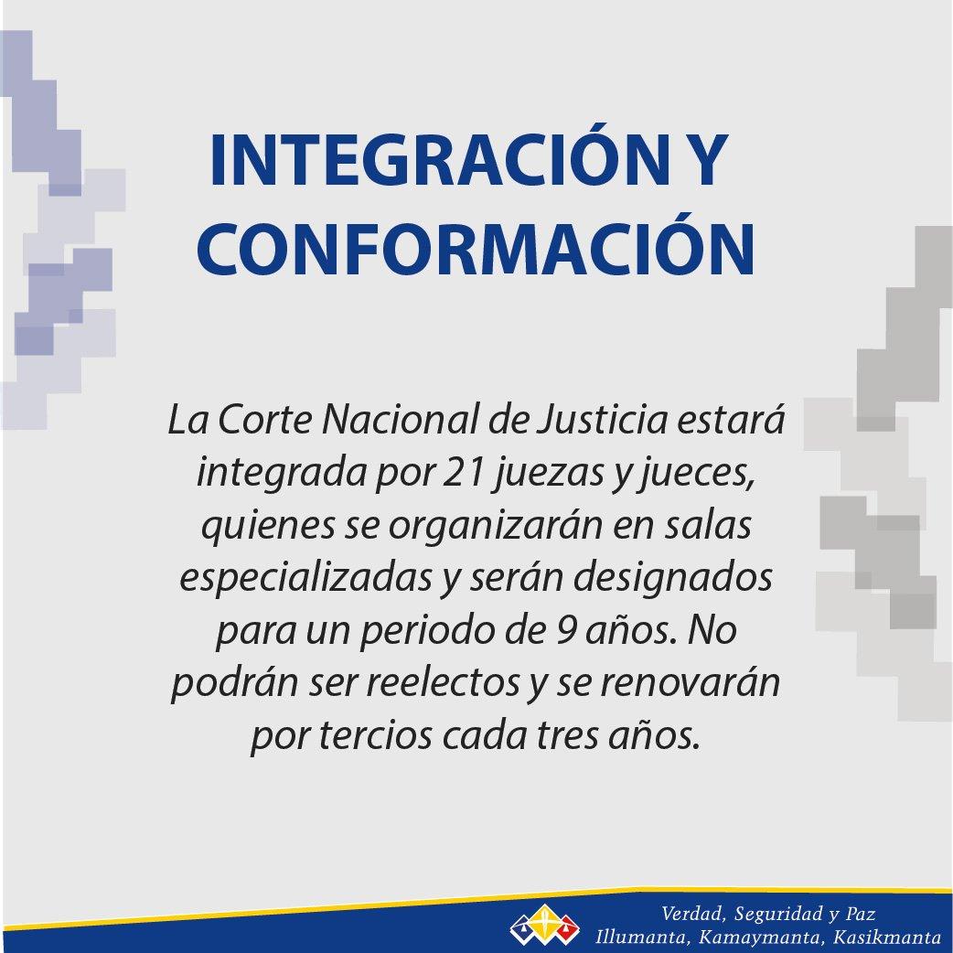 RT @CorteNacional: #ConoceALaCorte | La Corte Nacional de Justicia está integrada por 21 juezas y jueces https://t.co/EALsa4fDYi