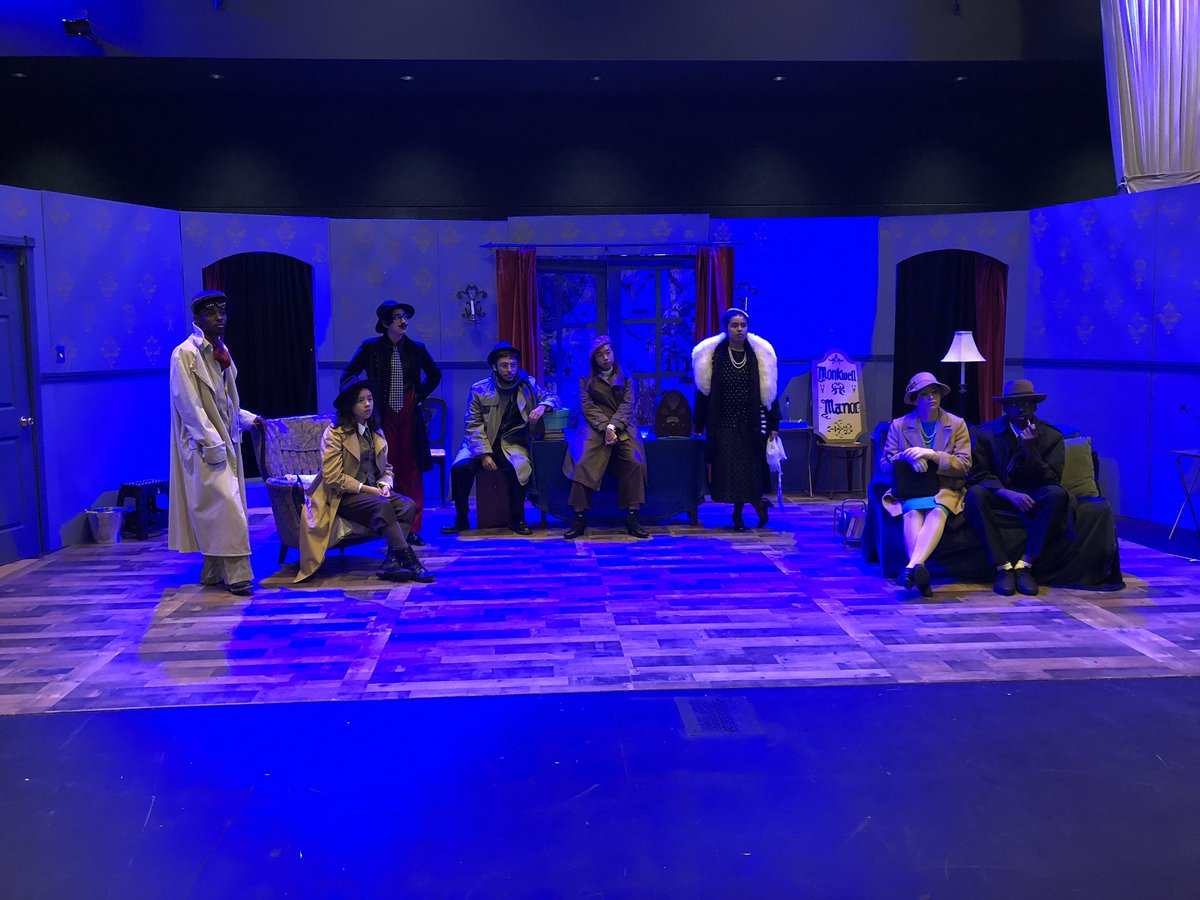 Saturday morning dress rehearsal for the upcoming Renaissance production of the Agatha Christie murder mystery The Mousetrap. Show opens this week. #proudtobeLBUSD