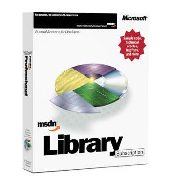 MSDN Library box.