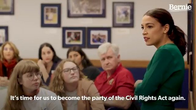This video of @AOC campaigning with @BernieSanders is 🔥! Watch