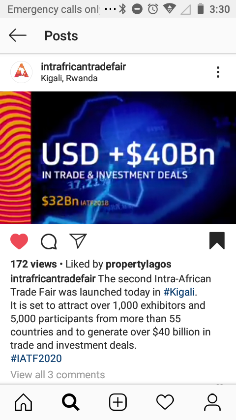 INTRA-AFRICA TRADE FAIR #IATF2020 ......... EXPECTED TO GENERATE OVER $40BILLION IN TRADE DEALS........BETWEEN AFRICAN NATIONS & THROUGHOUT THE WORLD..... ***FREE VIRTUAL LIVE STREAM*** & ***VIRTUAL PAYMENT INTERACTION AVAILABLE*** #Africa #AfricaIn2019 #AFCFTA #AfricanDiaspora