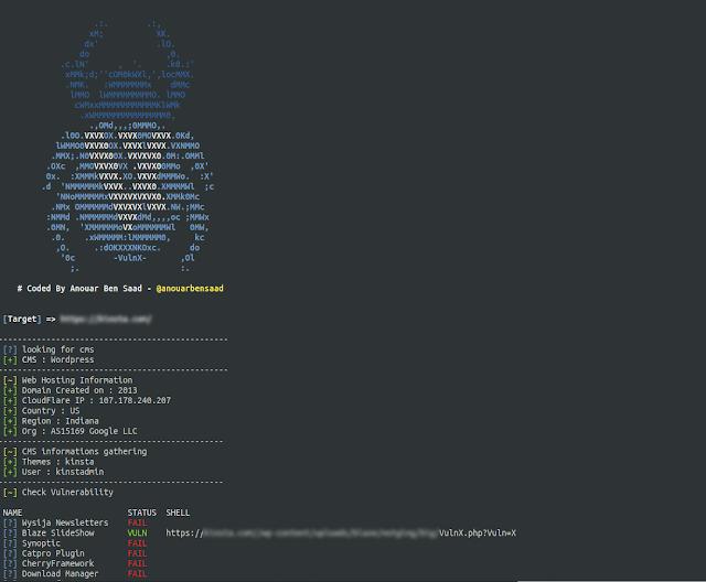 Vulnx v1.9 - An Intelligent Bot Auto Shell Injector That Detect Vulnerabilities In Multiple Types Of CMS (Wordpress, Joomla, Drupal, Prestashop...)  https:// ift.tt/2D1szY1    <br>http://pic.twitter.com/O2MapYCz4w