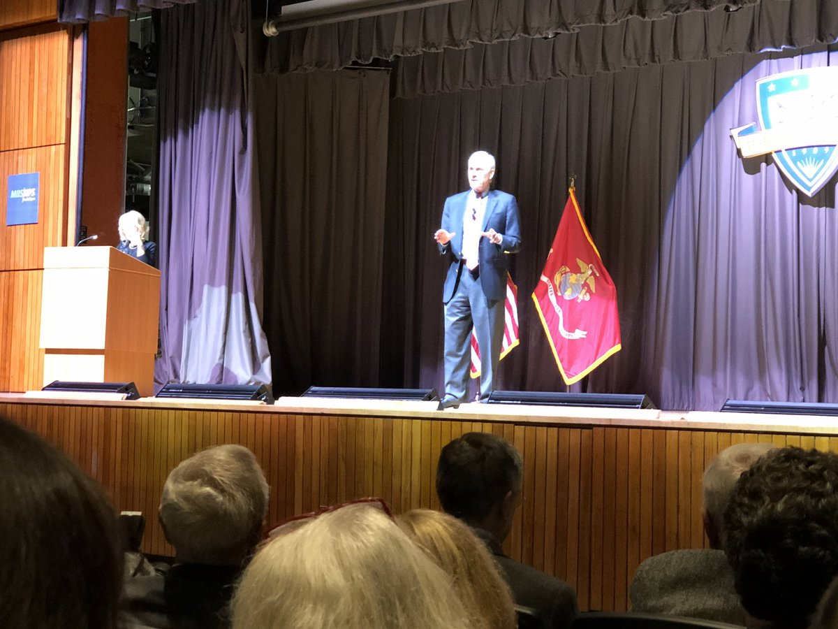 """""""Culture eats strategy for breakfast ... We have to change our culture."""" @secnav76 in response to a question by an #NPS Marine Corps student on how the services can #innovate and #adapt at the speed of our adversaries. NPS/#MIIS #Monterey #Security Dialogue https://t.co/kUZu764kLz"""