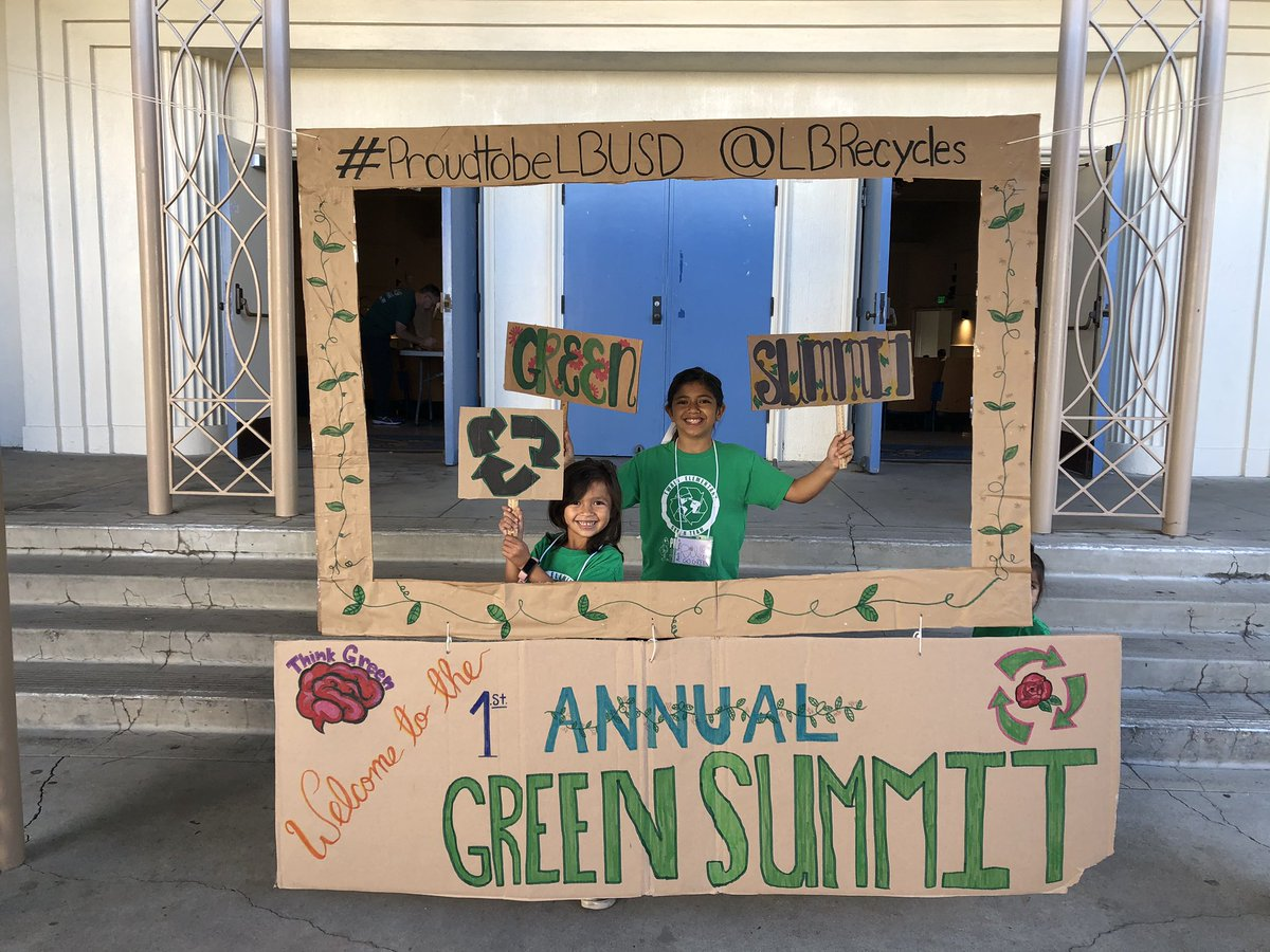 Twain was up early and representing for our Green Team at LBUSD's first annual Green Summit! @lbrecycles #proudtobeLBUSD #lbtwainpta