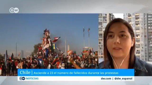 El número de fallecidos en #Chile se eleva a 23. El gobierno y los carabineros aseguraron que los perdigones eran sólo de goma. Un estudio de la #UniversidaddeChile ratifica que la munición empleada por la policía contiene un 80 % de plomo. Análisis: @Maoliscastro [ah]