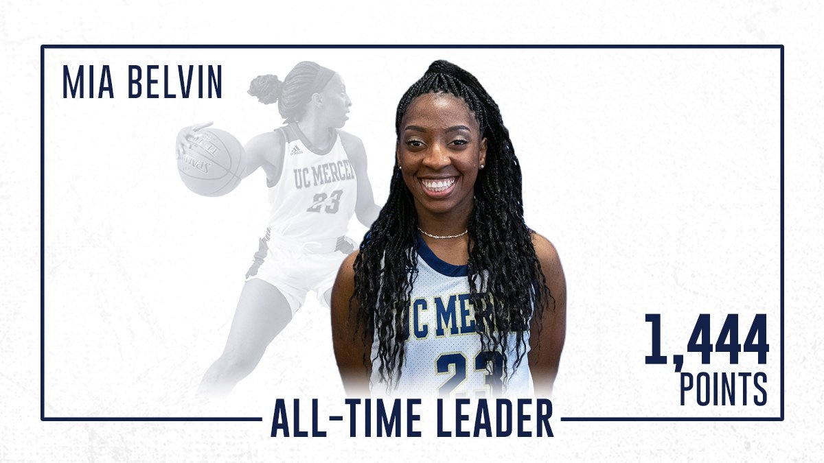Just a hooper from Long Beach 👊  Congratulations to Mia Belvin of @UCMercedWBB for becoming the Bobcats all-time scoring leader with 1,444 career points! Enjoy this milestone!