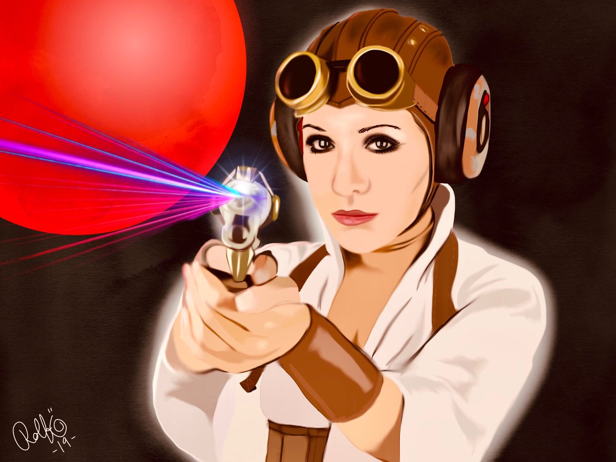 Goodnight cosmonauts! Gonna upload tomorrows video! #leia #StarWars #steampunk