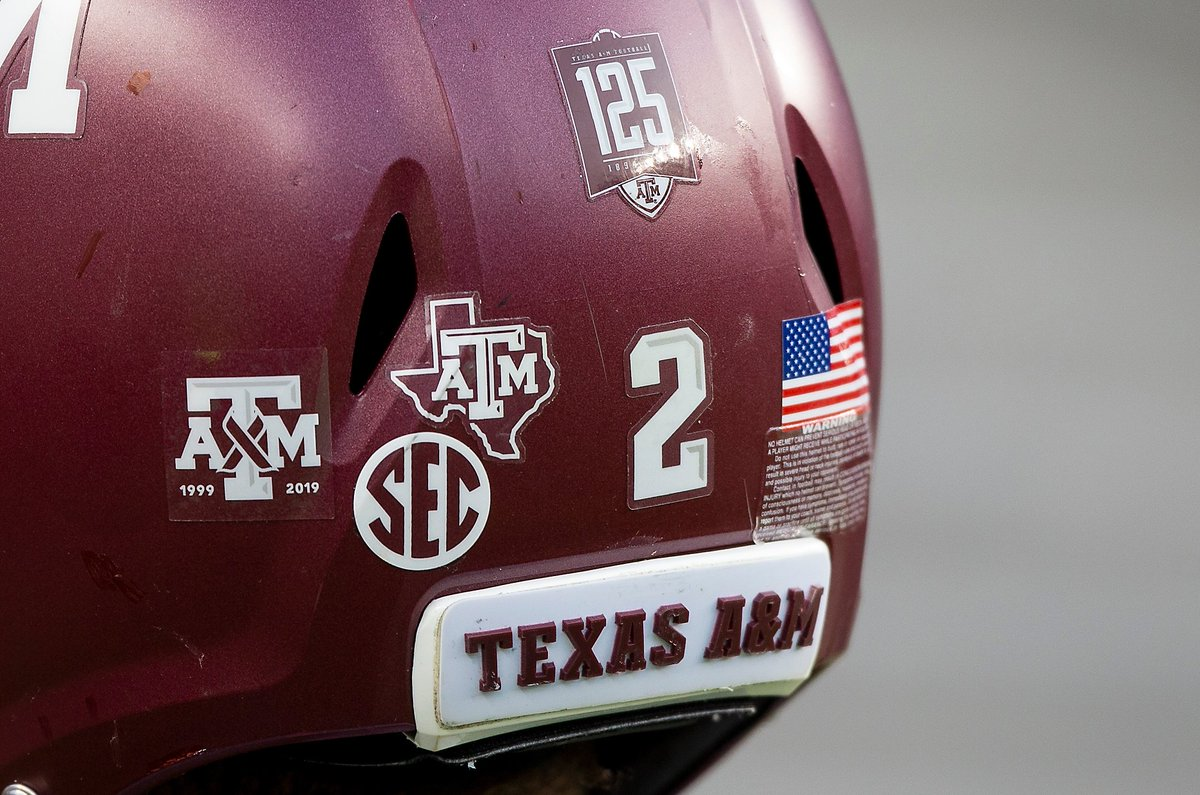Texas A M University On Twitter Aggiefootball Players Are Also Wearing A Special Helmet Decal In Remembrance Of The Fallen