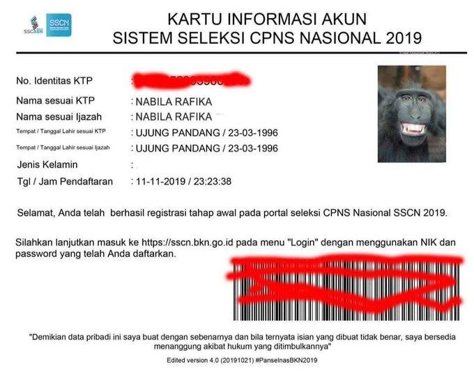 Contoh ID editan